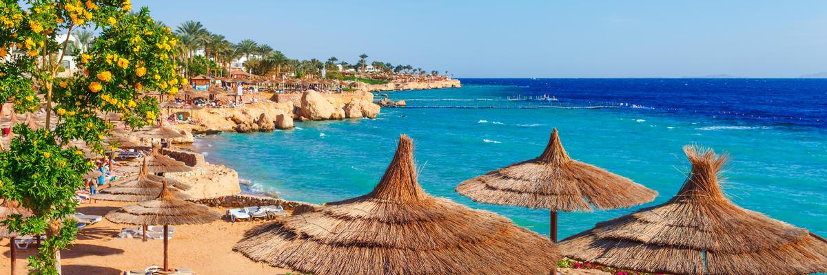 Resorts on a beach in Sharm-el-Sheikh, Sinai, Egypt (Photo: Oleg_P/Shutterstock)