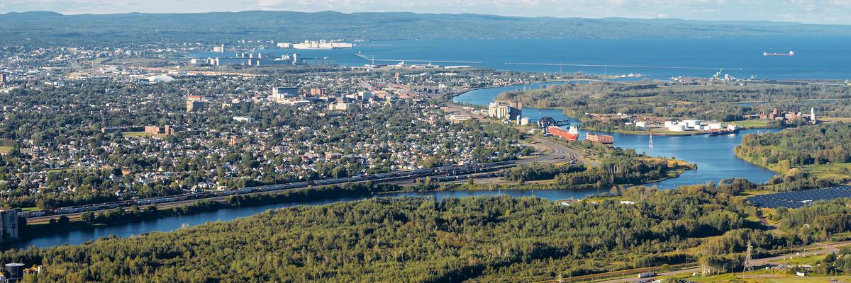 Aerial View of Thunder Bay from Mount McKay, Ontario, Canada (Photo: lastdjedai/Shutterstock)