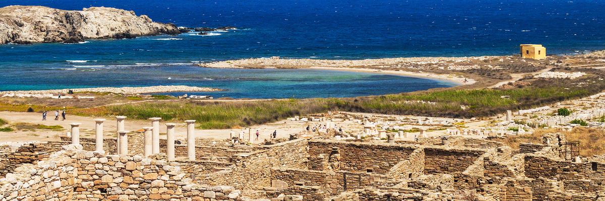 Ancient Ruins on the Island of Delos, Greece (Photo: Mila Atkovska/Shutterstock)