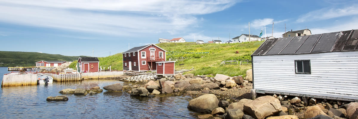 A shore line view of the small northern fishing village of Red Bay, Labrador, Canada (Photo: intoit/Shutterstock.com)