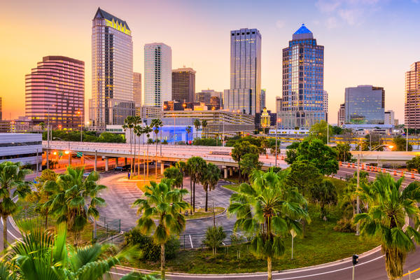 The Downtown Skyline of Tampa, Florida (Photo: Sean Pavone)