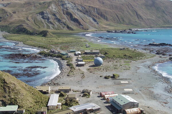 Macquarie Island Station (Photo: Noel Carmichael/Tasmania Parks and Wildlife Service/Flickr)