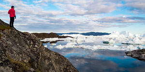 Greenland Iceberg Landscape of Ilulissat Icefjord with Giant Icebergs (Photo: Maridav/Shutterstock)