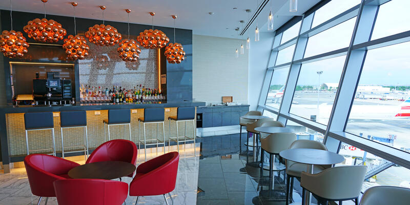 Interior View of the new American Airlines (AA) Flagship Lounge at Terminal 8 at the John F. Kennedy International Airport