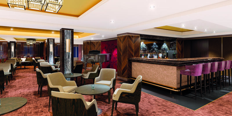 Interior shot of The Club by Jools on Spirit of Discovery