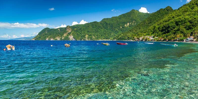 Soufriere Bay, Dominica, Caribbean (Photo: loneroc/Shutterstock)