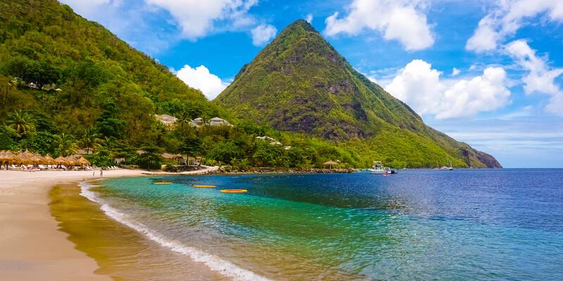 Beautiful Beach in Saint Lucia, Caribbean Islands (Photo: Solarisys/Shutterstock)