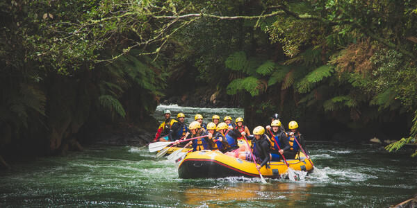 White Water Rafting on Kaituna River, Rotorua, Which is a Popular Shore Excursion in New Zealand (Photo: rodcoffee/Shutterstock)