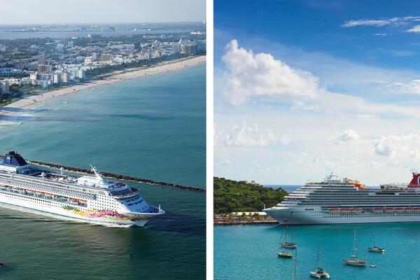 Norwegian Cruise Line vs. Carnival Cruise Line (Photo: Norwegian & Carnival Cruise Line)