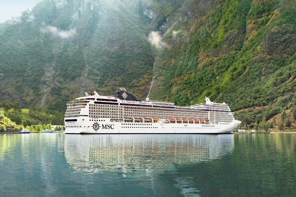 MSC Magnifica in Flaam, Norway (Photo: MSC Cruises)