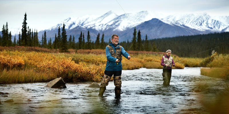 Couple Fishing in Denali, Alaska, a Popular Activity in the Area (Photo: Princess Cruises)