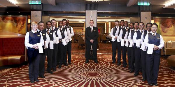 Main Dining Room Service Staff on Allure of the Seas (Photo: Royal Caribbean International)