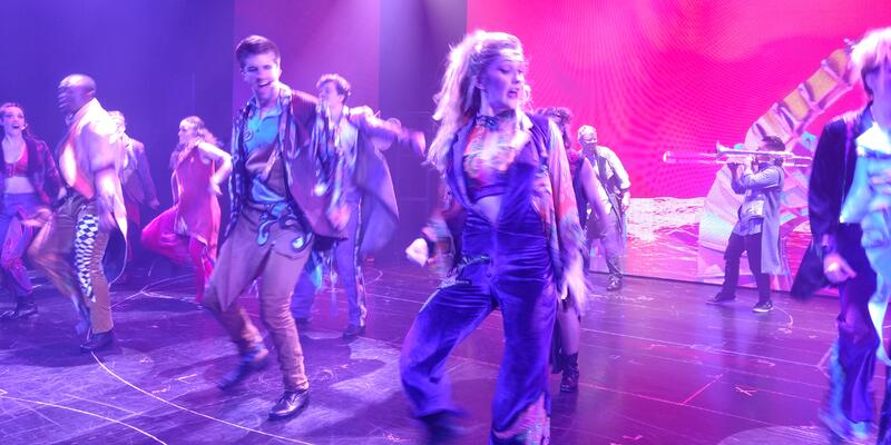Dancers performing Rock Revolution, a new show on Carnival Panorama