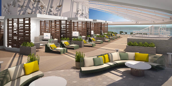 Rendering of The Sanctuary, without people, on Sky Princess