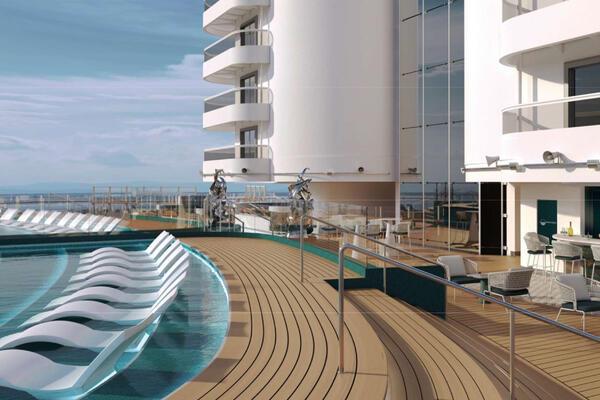 The Infinity Pool on MSC Seashore (Image: MSC Cruises)