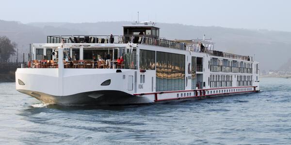 Viking Vali on of Viking's signature longships on cruising the European rivers (Photo: Viking River Cruises)