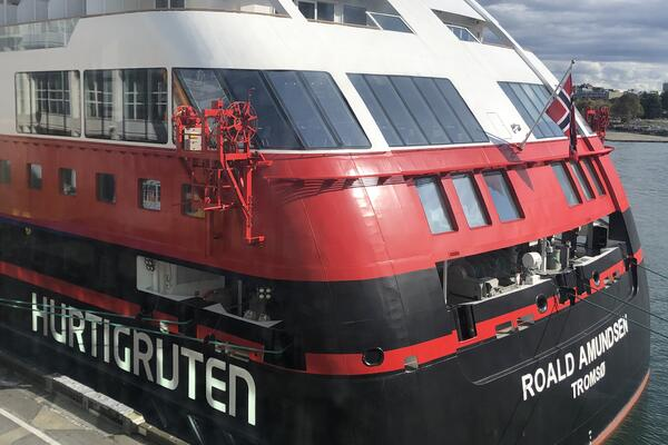 Exterior shot of MS Roald Amundsen (Photo: Brittany Chrusciel/Cruise Critic)
