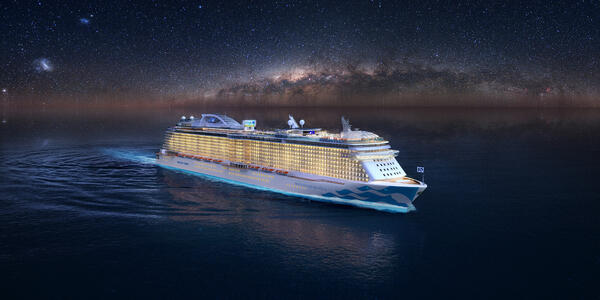 Enchanted Princess at Night (Photo: Princess Cruises)