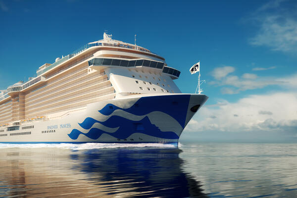 Rendering of Discovery Princess' exterior
