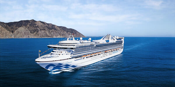 Exterior shot of Star Princess at sea