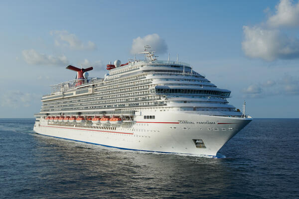 Exterior of Carnival Panorama during its sea trials