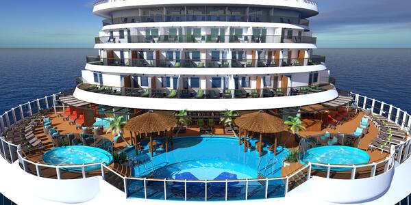 Rendering of Carnival Panorama's Havana Pool
