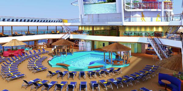 Rendering of Carnival Panorama's Resort Beach Pool