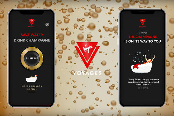 Composite photo of Virgin's Shake for Champagne app