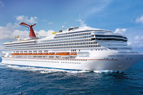 Exterior rendering of Carnival Radiance