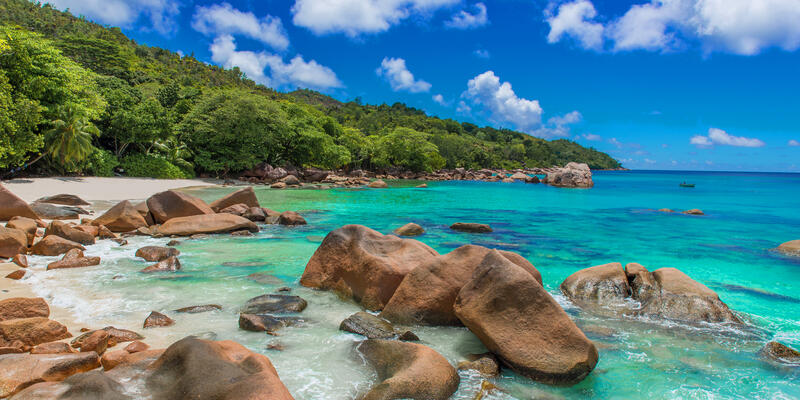Paradise beach with granite stones in Seychelles (Photo: Simon Dannhauer/Shutterstock)