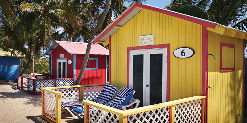 Yellow Bungalow on Princess Cays (Photo: Princess Cruises)