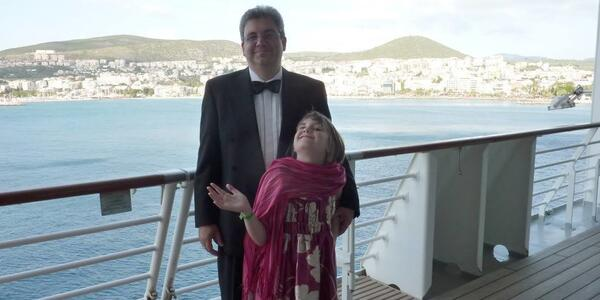 Photo of Cruise Critic member mondas42 in a tuxedo on the sun deck on Brilliance of the Seas in 2010