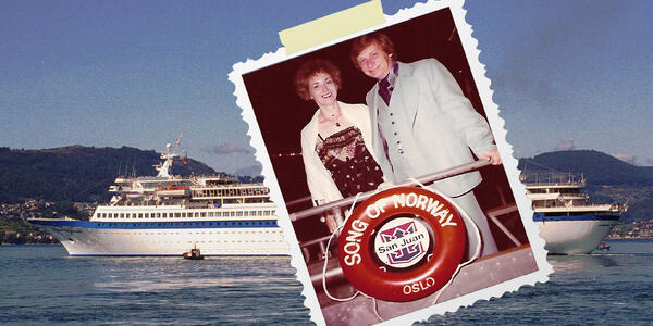 Composite photo of Cruise Critic member george35 and his wife on Song of Norway