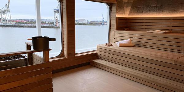 Sauna on Hanseatic Inspiration (Photo: Kim Foley MacKinnon/Cruise Critic)