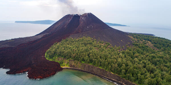 Anak Krakatau's Volcano, which erupted in 2008 as well as October of 2018 (Photo: The Wild Eyed/Shutterstock)