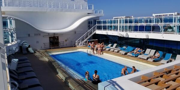 The Retreat Pool is for adults only. It's a quiet, calm space (Photo: Colleen McDaniel/Cruise Critic)