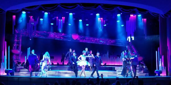 """""""Rock Opera"""" is the newest show to Princess. The costumes are dazzling (Photo: Colleen McDaniel/Cruise Critic)"""