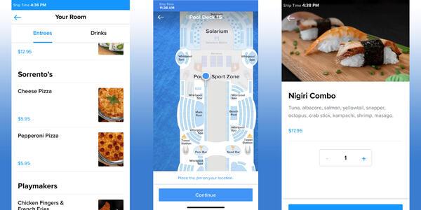 Composite photo of Bring Me app screenshots