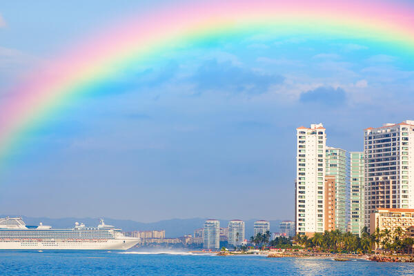 Rainbow over Puerto Vallarta (Photo: Alexey Stiop/Shutterstock)