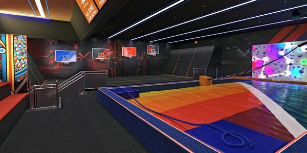 The Sky Zone Trampoline on Carnival Panorama (Photo: John Heald/Facebook)