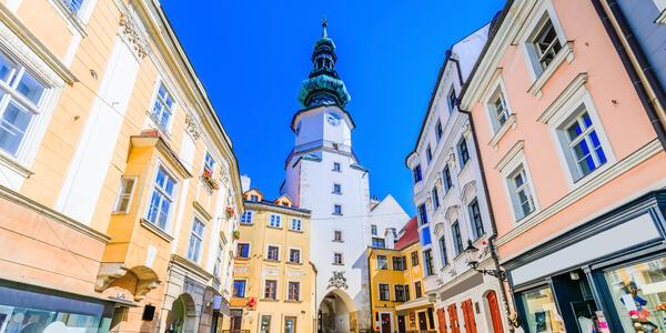 Bratislava's Michael's Gate. (Photo via Shutterstock).