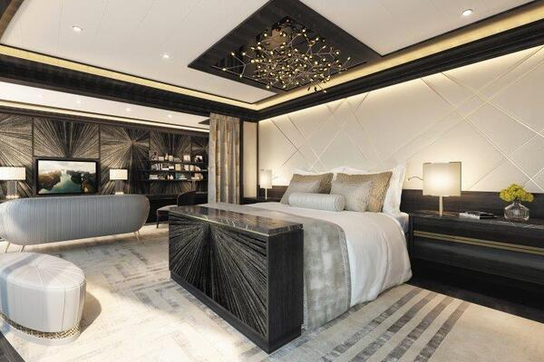 Regent Suite Master Bedroom on Seven Seas Splendor (Photo: Regent Seven Seas Cruises)
