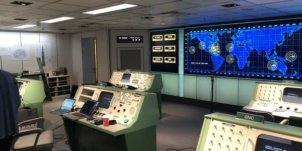 A mission control themed escape room under contruction  on Oasis of the Seas in the Navantia shipyard in Cadiz, Spain (Photo: Adam Coulter)