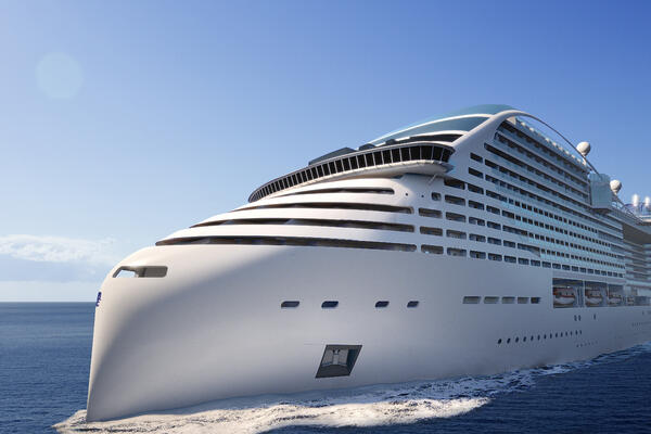 A rendering of MSC Cruises' first World Class ship, MSC Europa