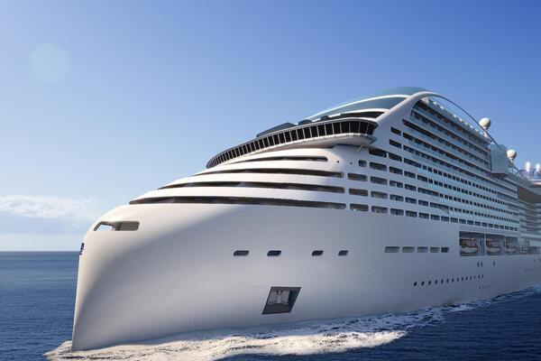 A rendering of MSC Cruises' first World Class ship, MSC Europa