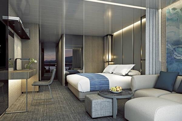 The Verandah Suite on Scenic Eclipse (Photo: Scenic Cruises)