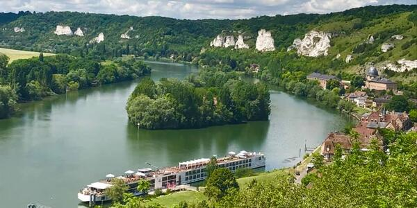 Les Andelys on a Seine River Cruise from Chateau Gaillard (photo by Peter Falk, courtesy of Viking River Cruises)
