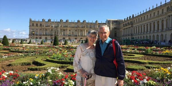 At Versailles, on a Seine River cruise (Photo by Linda Guerra, courtesy of Viking River Cruises)