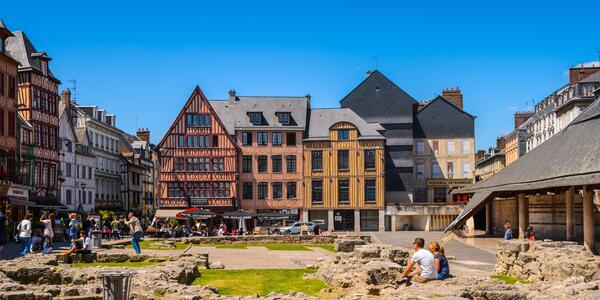 Rouen's Joan d'Arc Square (photo via Shutterstock)