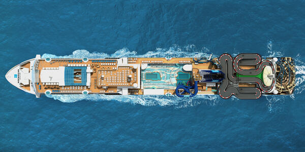 An Aerial View of the Boardwalk on Norwegian Encore (Photo: Norwegian Cruise Line)